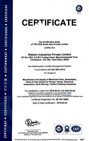 Rabwin Certifications